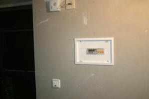 Установка счетчика в квартире.  Установка автоматических выключателей.